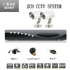 2ch CCTV System 600TVL Waterproof IR Cameras Network D1 P2P Cloud DVR Recorder CCTV Systems Security Camera Video System DVR Kit