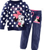 100% cotton retail Sizes: 2T - 3T - 4T - 5T - 6T - 7T for option (2-7 years) boys sets minnie mouse clothing