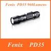 2014 New Fenix PD35 Cree XM-L 2 (U2) LED Flashlight 6 Mode Max 960 Lumens Waterproof Rescue Search Torch Flashlight