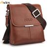 AWEN-free shipping hot sell promotion soft leather messenger bag,new style leisure mens leather shoulder bag,fashion men bag
