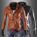 2014 New Casual Men Fashion Slim PU jacktes coat size M/L/XL/XXL