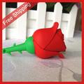 Free Shipping pen drive cartoon red rose 4gb/8gb/16gb/32gb bulk flower usb flash drive flash memory stick pendrive gift