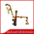 Black Headphone Audio Jack Power Volume Switch Flex Ribbon Cable For iPhone 3G 3GS