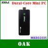 Free DHL - RKM Rikomagic MK802IIIS Dual Core Android Mini PC/TV Box RK3066 1GB+8GB Bulit-in Bluetooth/WiFi - 100pc