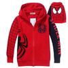 Reatil Free Shipping 2014 Autumn H Nova kids spiderman embroidered hoodie jackets Boys cartoon outerwear children`s coat  m
