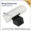 Free shipping HD CCD 170 degree car reverse backup parking camera forToyota RAV4 2014 night vision waterproof