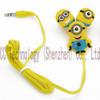Cartoon Anime The Minion Single Eye Style 3.5mm In Ear Headphones Earphones for Mobile Phone MP3 Player PC Computer
