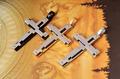 2014 Punk Men 316l Stainless Steel Cross Choker Necklace Fashion Metal Pendant Jewelry