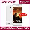 "Free Shipping Original Jiayu G2F Cell phones GSM TD-SCDMA 1GB 8GB MTK6582 Quad Core 1.3GHz 4.3"" IPS Corning Gorilla /Koccis"