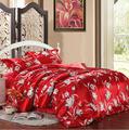 Colorful 4pcs bedding set Silk/Tencel Fabric soft bedclothes pillowcase bedspreads/quilt/duvet covers set King Queen double size