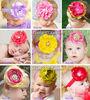 New 2013 christmas gift kids baby girls hair accessories artificial big peony pearl and rhinestones flowers headwear headband