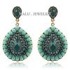 New European Fashion Elegant Atmosphere Classical Style Rhinestone Resin Droplets Beads Earrings for Women Dangle earings ER103