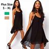 2014 New Brand Colorful Cross Stripes Chiffon Dress For Women,Sexy Backless Ladies Dresses Beach Summer Dress #1026