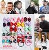 Free Shipping,2014 New 50pcs/lot Grils Dots Bowknot Hair Ropes Elastic Hair Bands Ponytail Holder Hair Accessories