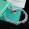 Wholesale jewelry ! Fashion Good quality silver jewelry silver mesh/curb/heart  925 design jewelry silver bracelet AFB155