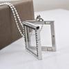 2014 Women Floating Locket Rhinestone Choker Necklace Silver charm photo Pendant Jewelry
