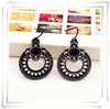New Fashion jewelry black round drop earring  gift  for women girl E2050