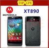 "Original XT890 Motorola Mobile Phone 4.3"" Screen Android 4.0 ROM 8GB Camera 8MP NFC Bluetooth 4.0 GPS 3G Unlocked Refurbished"