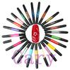 12 Color Nail Art Varnish Polish Pen Liner 2 Way Brush For Painting Drawing