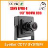 "Free Shipping Mini Camera 700TVL 1/3"" SONY Effio CCD 811+4140 Security Surveillance Indoor CCTV Camera with OSD Menu"