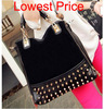 2014 new women leather handbags work casual scrub rivet bag women shoulder bag women messenger bags women handbag totes bags