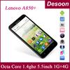 Free shipng Original Lenovo phone A850+ A850 Plus Octa Core MTK6592V 1.4ghz 1g RAM 4g Rom 5M 5.5'' 3G WCDMA GPS In stock /Amy