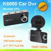 original k6000 car camera car video recorder full hd 1920*1080P Novatek Chipset 2.7 inch TFT Screen with G-sensor car dvr camera