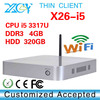 XCY X26-I5 intel 3317u dual core cheap mini server computer, intel thin client, mini pc server support wireless mouse