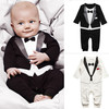 Fashion Newborn Baby Boys Cotton Long Sleeve Rompers Kids Climb Toddler Infant Gentleman Modelling Clothing