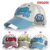 Retail 2014 Fashion Embroidery Children Baseball Caps, Baby Boys Girl Denim Baseball Cap,Kids Summer Mesh Sun Hat Free Shipping
