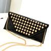 Free shipping 2014 new fashion punk rivet envelope day clutch bag women's small messenger bag
