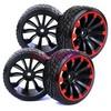 4PCS RC 1:10 On Road Drift Car Hard Plastic Tires Tyres & Wheel Rim 601A-6013 Fit HSP HPI REDCAT