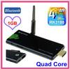 CX-919 Android TV Box Stick Quad Core Mini PC RK3188 1.6Ghz RAM 1GB ROM 8GB Bluetooth HDMI WiFi Smart TV Stick CX919