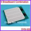 SYB-500 4 Piece Of Breadboard Combination Experimental Board