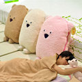 Special cute 1pc 160cm creative cartoon relax bear girl plush air condition nap blanket cushion toy novelty gift