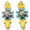 2014 New Brand Yellow Bohemia Flower Design Earrings Fashion Jewelry For Women