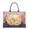 Brand 2014 women's multi-colored canvas handbag fashion vintage big print flower totes female cloth shoulder bags TS200A