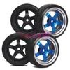 4PCS RC 1/10 On Road Car Drift Hard Plastic Tires Tyres & 12mm hex Wheel hub Rim 9051-9015 Fit 1:10 HSP REDCAT HPI