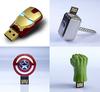 AU24 Avengers LED Gold Iron man/American shield /Hulk hand /Thor hammer Metal Model Enough 2.0 USB disk flash card memory stick