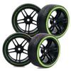 4PCS RC 1:10 1/10 On Road Car Hard plastic Drift Tires Tyre 12mm hex Wheel hub Rim Fit HSP HPI flying fish drift car 9065-5010