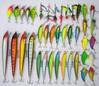 40pcs/set Mixed 7 style fishing lures set Minnow/ Crankbait /Spinner bait /Swimbait/ Vib /wobbler artificial bait pesca tackle