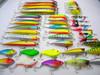 40pcs/set Mixed 7 style fishing lures set Minnow/ Crankbait /Spinner bait /Swimbait/ Vib /wobbler artificial bait fishing tackle