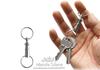 3PCS/Lot Detachable Removable Handy Keyring keychain Key Holder Split Ring Keyfob Tool Free Shipping