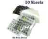 50 Sheet x 3D Design Tip Colored Flower Nail Art Sticker Decal Mix Design Free Shipping 4UNL160