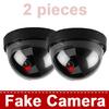 2 pieces Fake CCTV Security Cameras Dummy Camera Wireless Indoor Dome IR LED Surveillance CCTV Camera Realistic Looking
