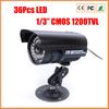 "Infrared Night Vision SONY CMOS IMX138 Bullet 1200 TVL 1/3"" Lens CCTV Waterproof  Camera Outdoor Security Camera"