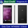 2014 New Original Octa Core Kingzone turbo K1 14.0MP MTK6592 1.7GHz 5.5 3G SmartPhone RAM 2GB ROM 16GB WCDMA In stock!/Kate