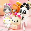cheese cat cartoon automatic retractable earphones for mobile phone computer cartoon earphones in ear headphone