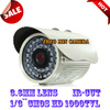 free shipping 1/3``CMOS 1000TVL CAMERA HD CCTV Classic white surveillance cameras installed outdoor waterproof infrared