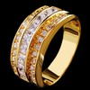 White Sapphire Yellow Gold Filled Ring Mens 10kt Finger Rings Man Fashion Jewelry 2014 New Arrival Size 9/10/11/12